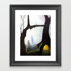 everything merges with the night Framed Art Print