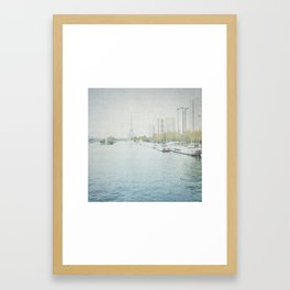 Letters From Les Barges - Paris Framed Art Print