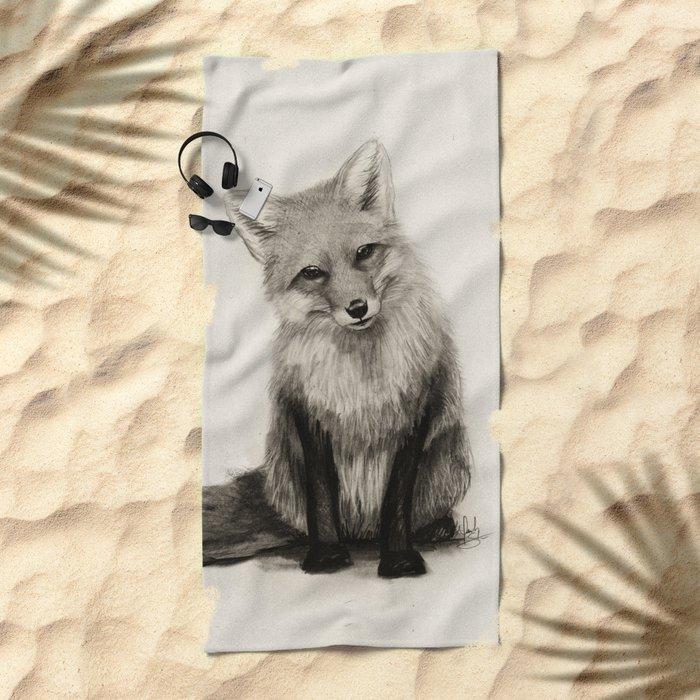Fox Say What?! Beach Towel