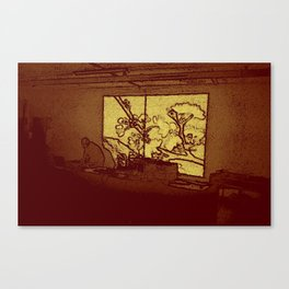 BLACK Electronic Underground #5 Canvas Print