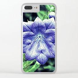Purple Balloon Flower Floral Art A105 Clear iPhone Case
