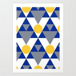 Modern Winter Pattern Art Print