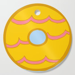 Yellow Party Ring Biscuit Cutting Board