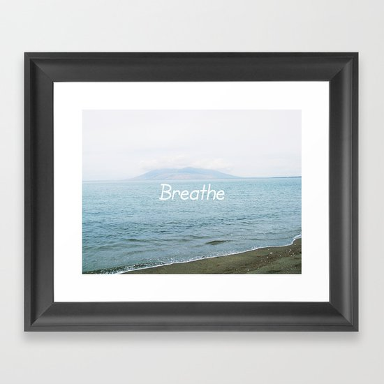 Take a moment and ... Framed Art Print