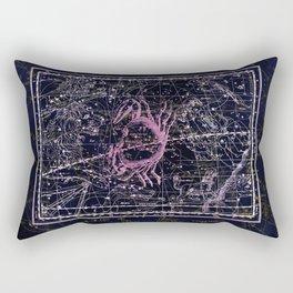 Cancer | Constellation map | Zodiac | Sign sky | Stars | Universe Rectangular Pillow