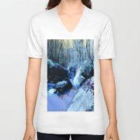fairies V-neck T-shirts featuring Where Fairies Live  by WhimsyRomance&Fun