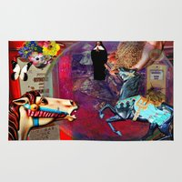 pocket fuel Area & Throw Rugs featuring Fossil Fuel Cemetery by Joseph Mosley