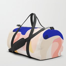 Modern Abstract Peach Pink Navy Blue Yellow Pattern Duffle Bag
