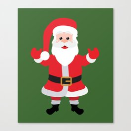 Christmas Santa Claus Says Welcome to You Canvas Print