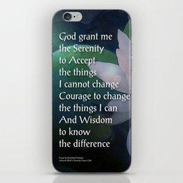 Serenity Prayer Lotus One iPhone Skin