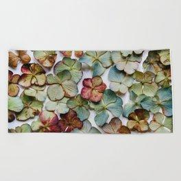 Hydrangea Petals no. 1 Beach Towel