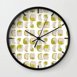 Eating process (Apple) // watercolor apple consumption Wall Clock
