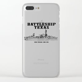 Battleship Texas - USS Texas BB-35 Clear iPhone Case