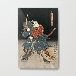 Utagawa Kunisada - An Actor In The Role Of Narutonomae Metal Print