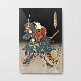 Utagawa Kunisada - An Actor In The Role Of Narutonomae Metal Print