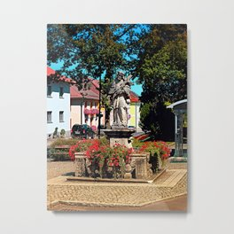 A saint on the local square Metal Print