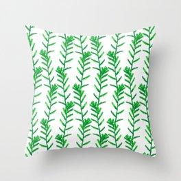 Ancient fern Throw Pillow