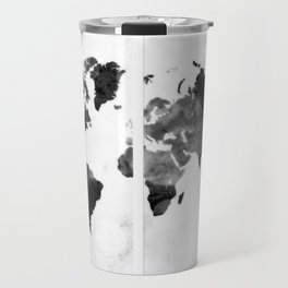 World map in pieces Travel Mug