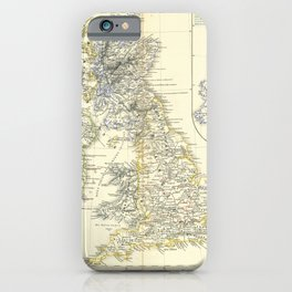 Vintage Map - Spruner-Menke Handatlas (1880) - 58 The British Isles before the Norman Invasion 1066 iPhone Case