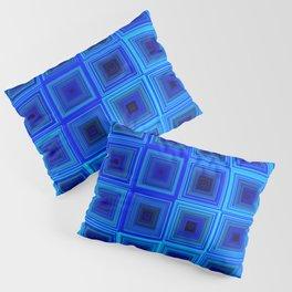 6x6 005 - abstract neon blue pattern Pillow Sham