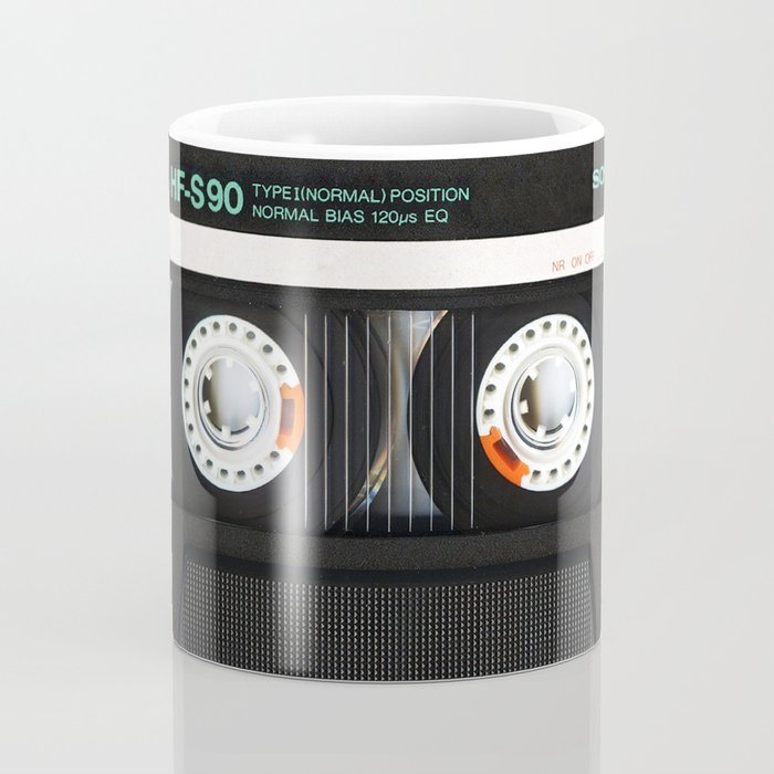 Retro classic vintage Black cassette tape Coffee Mug