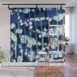 Blue Cotton Dots Wall Mural