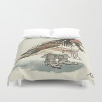 jack sparrow Duvet Covers featuring Captain Jack Sparrow by victorygarlic