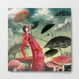 Les parapluies Metal Print