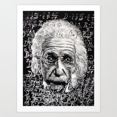 The Mind of a Genius Art Print