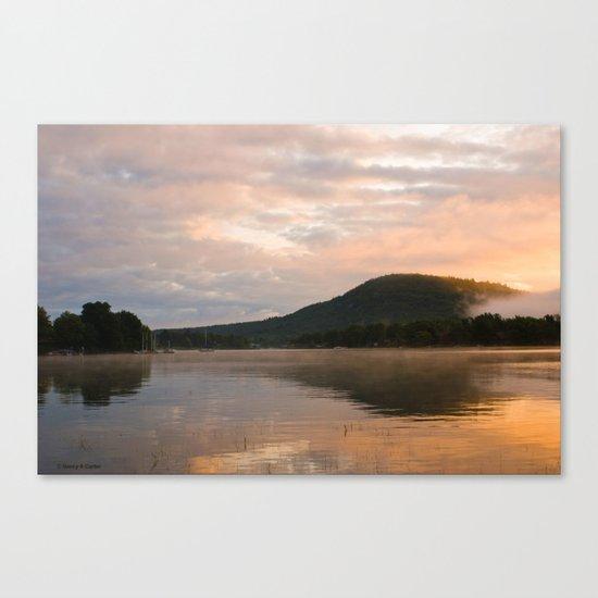 First Light (Sunrise on Lake George) Canvas Print