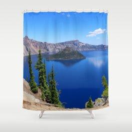 Deep Blue Carter Shower Curtain