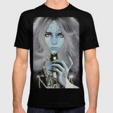 Alien warrior girl Mens Fitted Tee Black SMALL