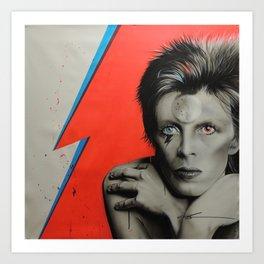 'Bolt of Bowie' Art Print