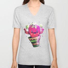 Strawberry Cactus Unisex V-Neck