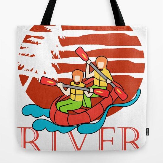 rafting gift raft dinghy raft whitewater Tote Bag