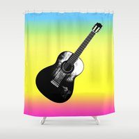 woodstock Shower Curtains featuring Woodstock by Nicko-Suave Art