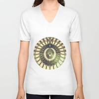 oriental V-neck T-shirts featuring Oriental Sun by Design Windmill