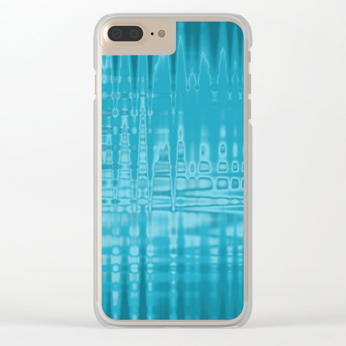 ABSTRACT MADNESS IN BLUE Clear iPhone Case