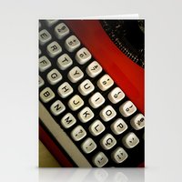 typewriter Stationery Cards featuring Typewriter by Mauricio Santana