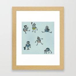 Robot Babies Framed Art Print