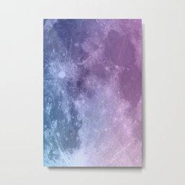 Aurora Moon Metal Print
