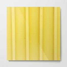 Urban Wood - Canary Yellow Metal Print