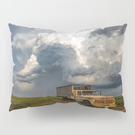 Work Hard - Old Farm Truck and Storm in Southern Kansas Pillow Sham
