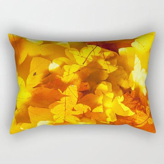 Fading Leaves Rectangular Pillow