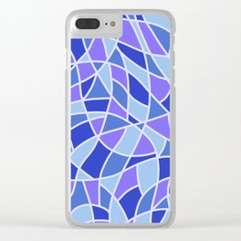Curved Mosaic 05 Clear iPhone Case
