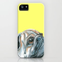 Pug, printed from an original painting by Jiri Bures iPhone Case