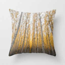 Boardman Trees Throw Pillow