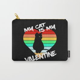 My Cat is my Valentine Carry-All Pouch