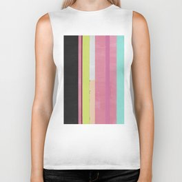 Retro Color Stripes By Hand Painting / Ver.1 Biker Tank