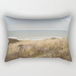 View of the North Sea from the dunes Rectangular Pillow